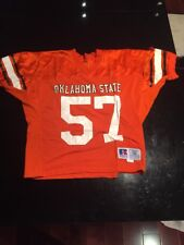 Game Worn Used Oklahoma State Cowboys Football Jersey #57 Russell Size 50