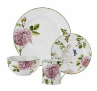 Spode Home Floral Roses 16 Piece Porcelain Dinnerware Set, Service for 4