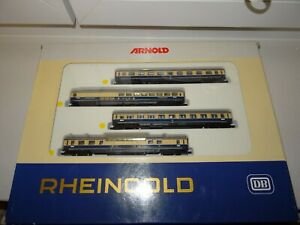 Spur N  Arnold 0144 Rheingold-Set Personenwagen mit Beleuchtung