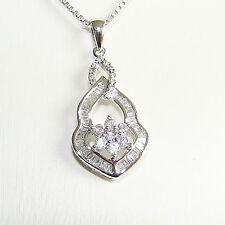 Anhänger Gold 750 Brillant 0,31 ct Baguette Goldanhänger Jugendstilart Diamanten