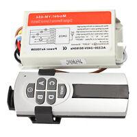 4 Ports Way 3 Channel Wireless Digital Remote Control Switch Light Switch + Box