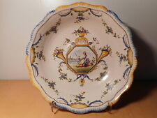 Jatte coupe ancienne plat faience italienne Italie ? 18 19 siècle