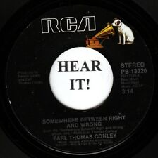 Earl Thomas Conley 80s C&W ROCKER 45 (RCA 13320) Somewhere Between Right And  M-