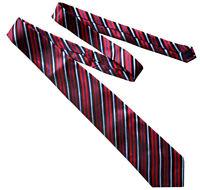 GIFTS FOR MEN Mens Classic Stripe Silk Striped Necktie Formal Tie Red Blue White