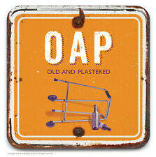 Brainbox Candy novelty OAP wine beer drinks mat coaster funny cheap present gift