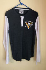Pittsburgh Penguins NHL Hockey CCM Vintage Style Long Sleeve tee t-shirt Small