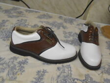 Men's Dexter Brown & White Golf Shoes
