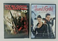 MY BLOODY VALENTINE 3D DVD & HANSEL & GRETEL Witch Hunters DVD Very Good