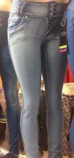 Light Blue Sexy Women Denim Skinny Pants Stretchy Jeans High Waist Tights