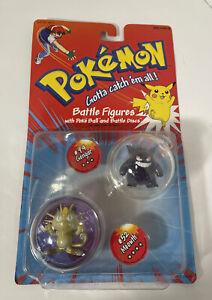 VTG Pokémon #94 GENGAR # 52 MEOWTH Battle Figures 1999 Hasbro