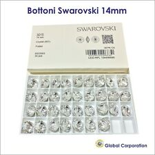 36 BOTTONI SWAROVSKI ORIGINALI ORIGINALE 14mm CRISTALLO ART. 3015 CRYSTAL CUCIRE