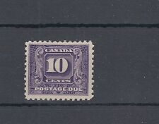 J10 postage due single VF MH Cat$160 Canada mint