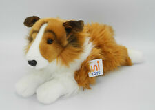 Uni-Toys Neuware Hund Hütehund Collie liegend weiße Nase ca. 40cm lang