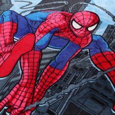 Spider Man Faux Mink Fur Blanket Single Size Bedding Cartoon Soft Throw Kids New