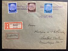 1940 Radom GEneral Government Poland Germany Registered Cover To Saalfeld