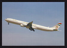 Aviation Aircraft Ethiad Airways A340 taking off London LHR 2008 Modern Postcard
