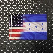 "America USA Honduras Dual Country Domed Decal Distress Sticker 3D 3.25""x2"""