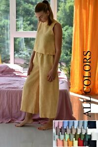 Linen HOME CLOTHES / pajama set woman / linen pajama / a gift for Сhristmas