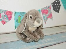 """Toys R Us Animal Alley Brown Gray Bunny Rabbit Realistic Stuffed Plush Toy 10"""""""