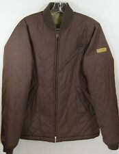 VOLCOM Workwear Coat Jacket Brown Size S Small Quilted