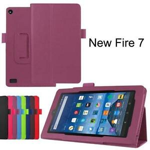 2019 / 2017 Luxury PU Leather Folio Magnetic Case For Amazon Fire 7 Tablet