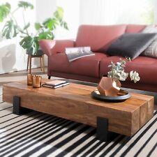WOHNLING Couchtisch SORON Wohnzimmertisch Holz Massiv Sofatisch Tisch Wohnzimmer