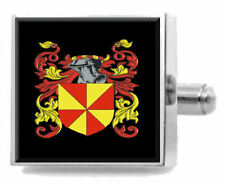 Bryer England Heraldry Crest Sterling Silver Cufflinks Engraved Message Box