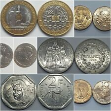 Monnaies Commemoratives Françaises (1982-1998) 1 2 5 10 & 20 Francs Commemoratif