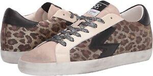 NEW Sam Edelman Areson Leopard print Women LACE UP  Sneakers Size 7 NIB