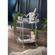 Deco Glamourous Drinks Trolley Silver
