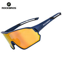 ROCKBROS Cycling Bike Polarized Sports Glasses Sunglasses Goggles Blue One Len