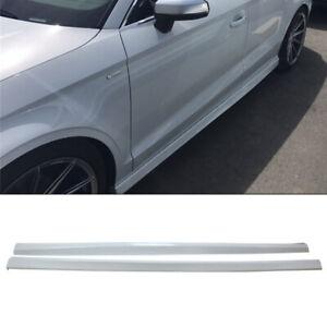 Side Skirts For 2013-2019 Audi A3 Sedan Door Bottom Extension Lip Glacier White
