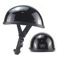 Lightest Motorcycle FLAT DOT Beanie Helmet Half Helmet Cap Skid Scooter Chopper