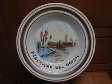 Piatto ceramica PESCHIERA DEL GARDA VR dipinto a mano 1980