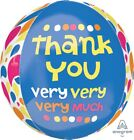 """NEW Thank You Very Much Foil Orbz Balloon 15x16"""" 28773"""