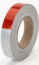 "Starrey Reflective Tape Roll DOT-C2 Approved 1""X25 - Waterproof Red White Tape -"