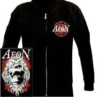 Aeon Fist Of Hell Hoodie M L XL Black Hooded Sweatshirt Hoody Death Metal New