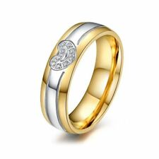 Women's Fashion Wedding Party Couple Ring Sz 5-12 Titanium Steel Lovers Band Men