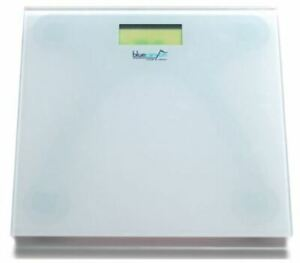 Blue Canyon Digital Glass Scale Bathroom Electronic Scales Body Fat 150KG White