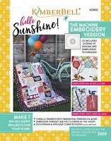 Hello Sunshine! The Machine Embroidery Version Softcover Book - Designs with CD