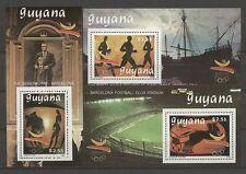 Olympiade 1992, Olympic Games - Guyana - 3 Bl. ** MNH