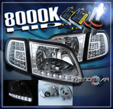 1997-2003 FORD F150 EXPEDITION SUV LED CRYSTAL HEAD LIGHT+CORNER+HID 8000K CLEAR