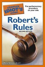 The Complete Idiot's Guide to Robert's Rules, 2nd Edition (Idiot's Guides) by S