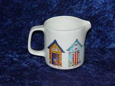 Beach Huts pattern 2 cup or 6 cup porcelain teapot or milk jug or sugar bowl