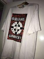Vtg Social Unrest Rock Punk Hayward Cali Graphic Tour Concert Tee Shirt 2xl