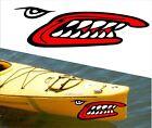 SHARK TEETH MOUTH DECAL STICKERS KAYAK CANOE JET HOBIE DAGGER OCEAN boat MPN 3 Z