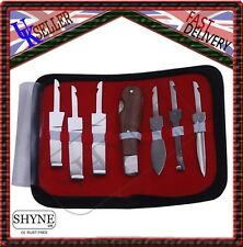 Professional Farrier HOOF KNIVES Set Kit VETERINARY Enquine Horse S STEEL CE
