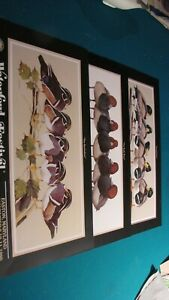 3 Decoy Show posters by Art LaMay Easton '88 to '90 Wood Ducks Red Head Mallard