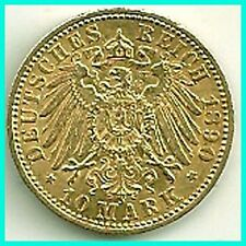 GERMANY - 1890 - A - GOLD 10 MARK - PREUSSEN  EX.FINE !! ,