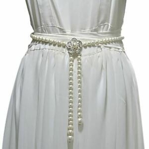 Pearl Sash Boho Pearl Waist Chain Pearl Beaded Ladie's Fashion Waist Belt